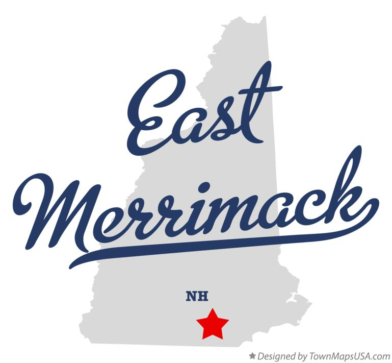 Map of East Merrimack New Hampshire NH