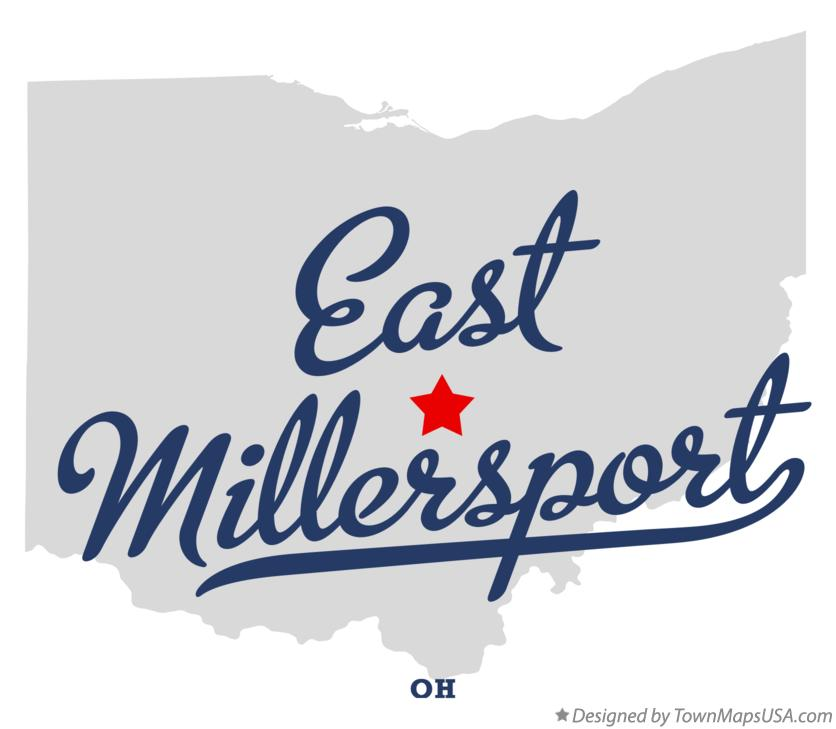 Map of East Millersport Ohio OH