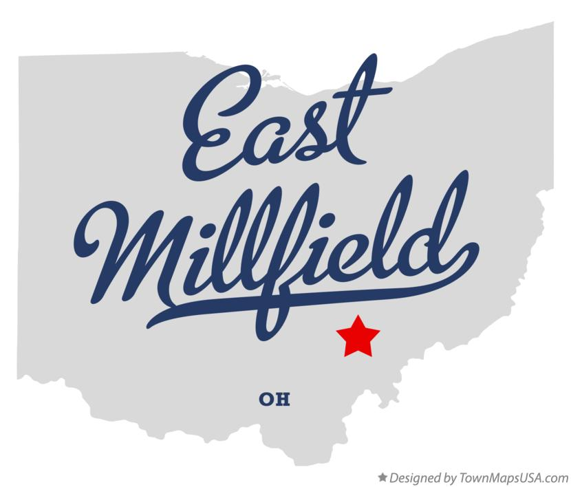 Map of East Millfield Ohio OH