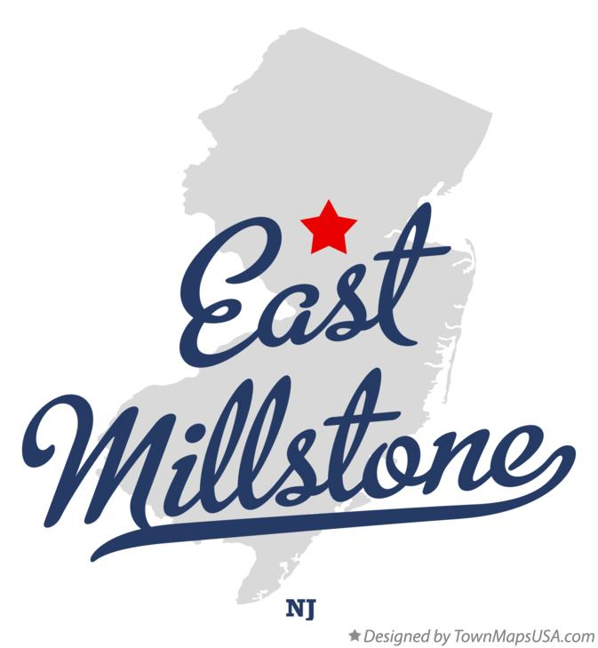 Map of East Millstone New Jersey NJ