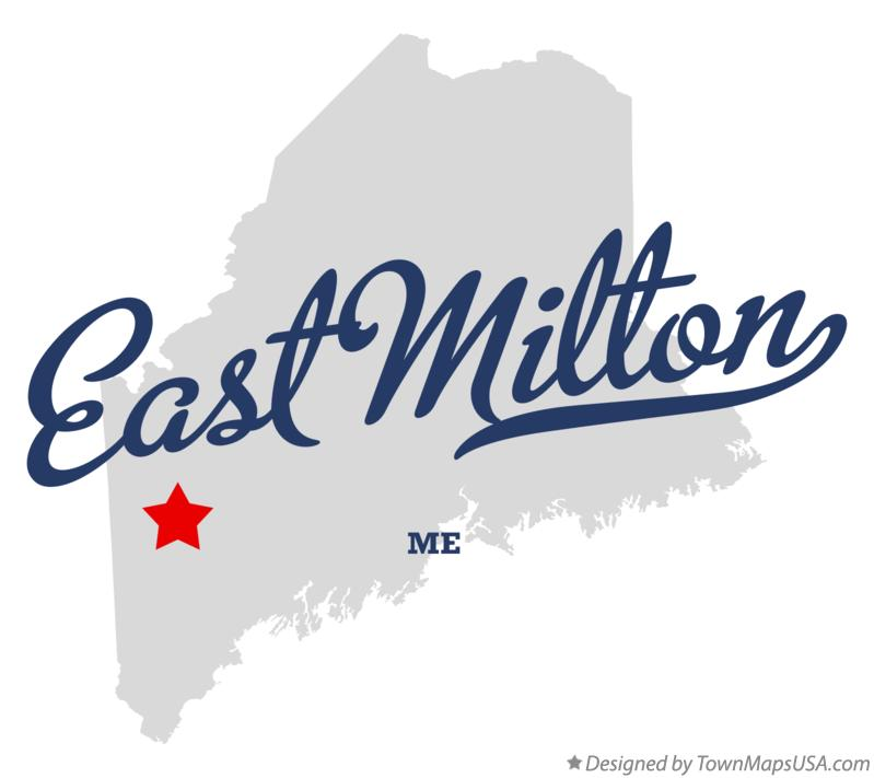 Map of East Milton Maine ME