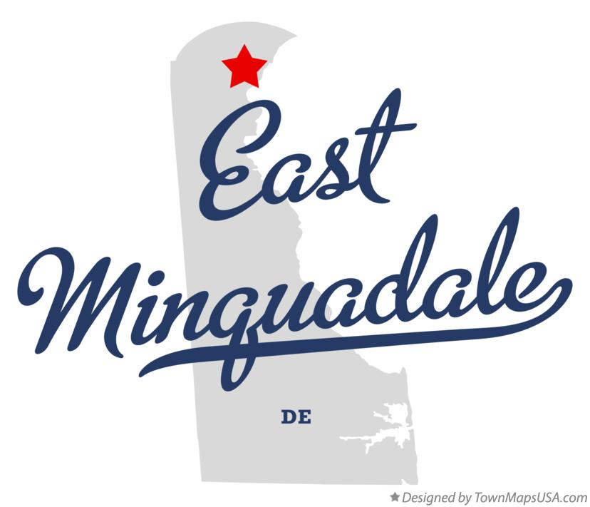 Map of East Minquadale Delaware DE