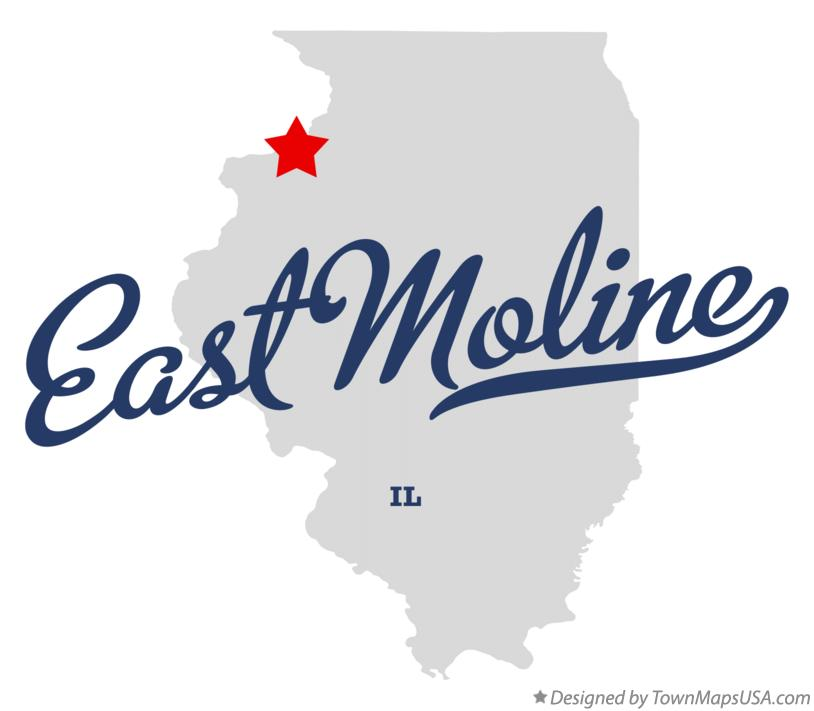 Map of East Moline Illinois IL
