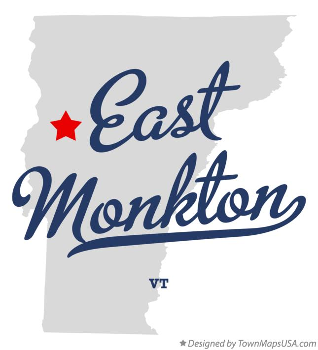 Map of East Monkton Vermont VT