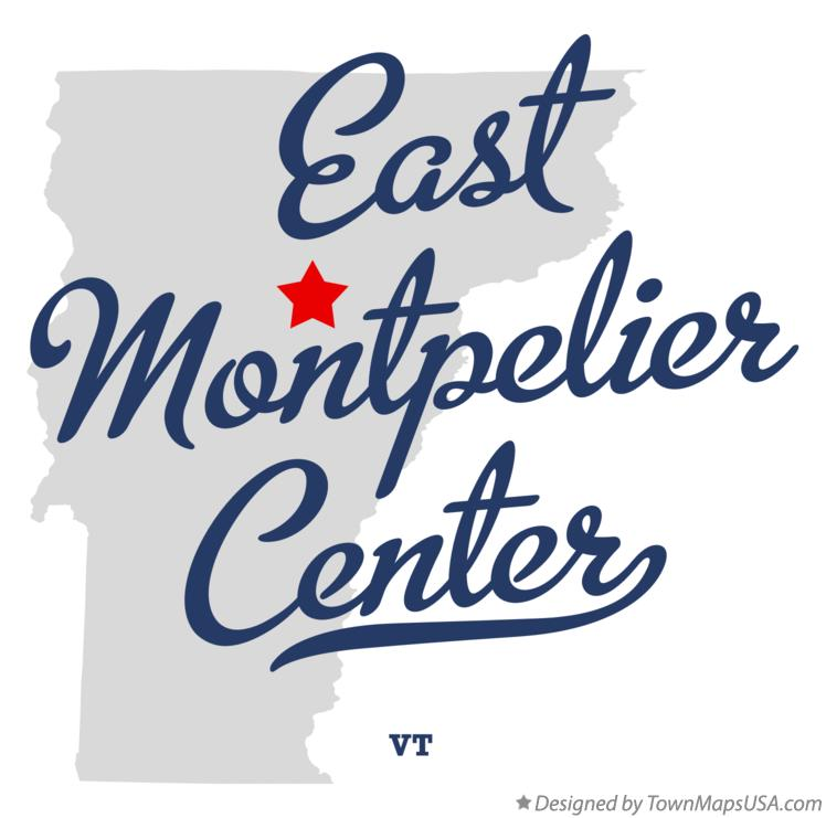 Map of East Montpelier Center Vermont VT