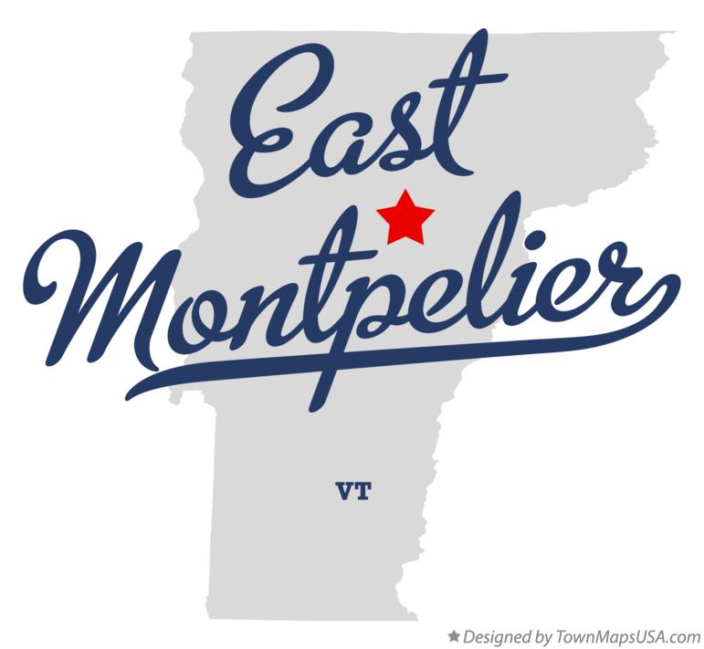 Map of East Montpelier Vermont VT