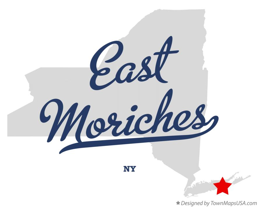 Map of East Moriches New York NY