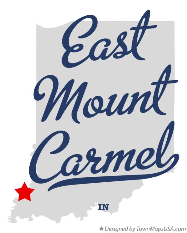 Map of East Mount Carmel Indiana IN