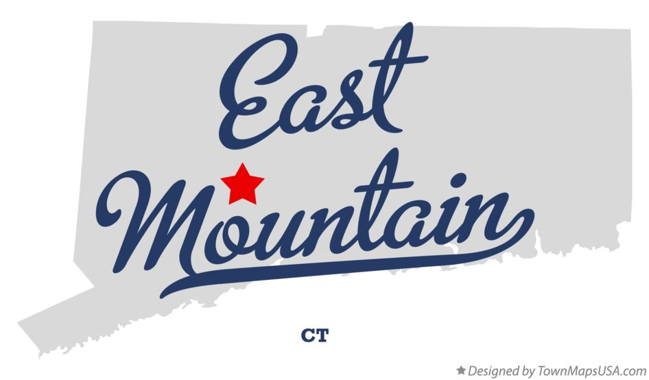 Map of East Mountain Connecticut CT