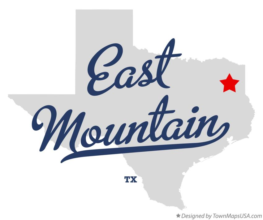 Map of East Mountain Texas TX