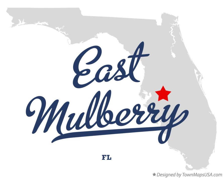 Map of East Mulberry Florida FL