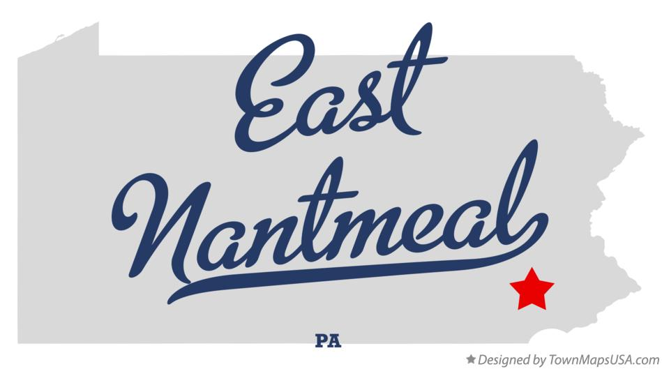 Map of East Nantmeal Pennsylvania PA
