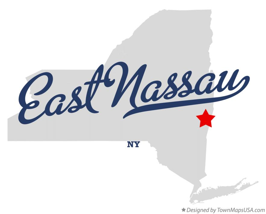 Map of East Nassau New York NY