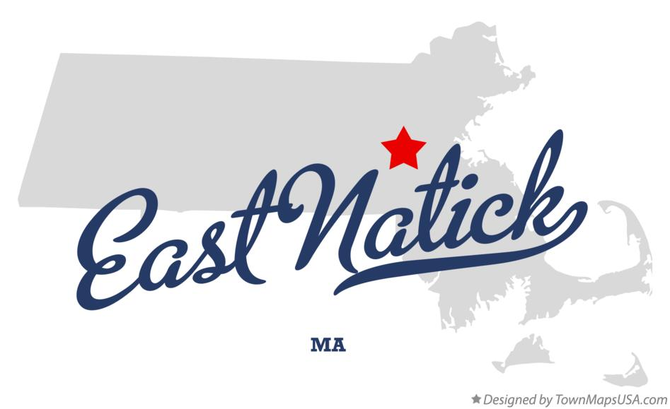Map of East Natick Massachusetts MA