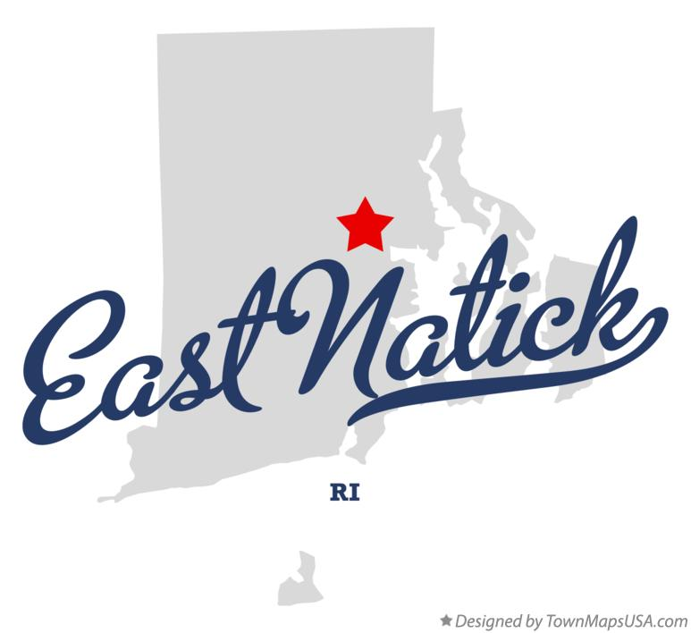 Map of East Natick Rhode Island RI