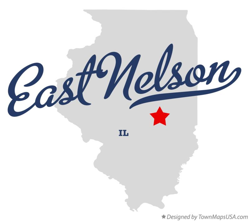 Map of East Nelson Illinois IL