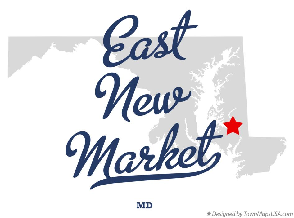 Map of East New Market Maryland MD