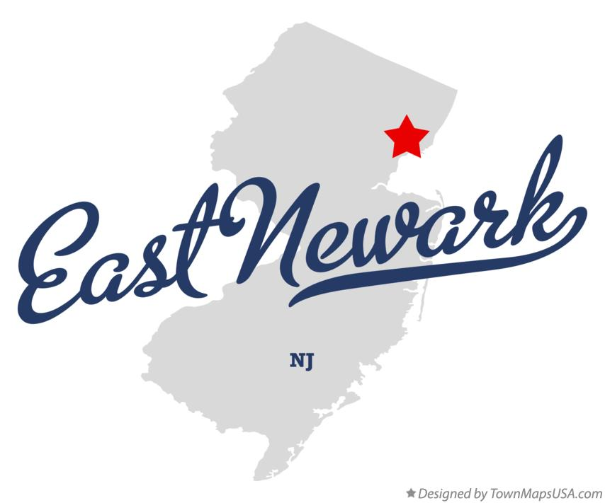 Map of East Newark New Jersey NJ