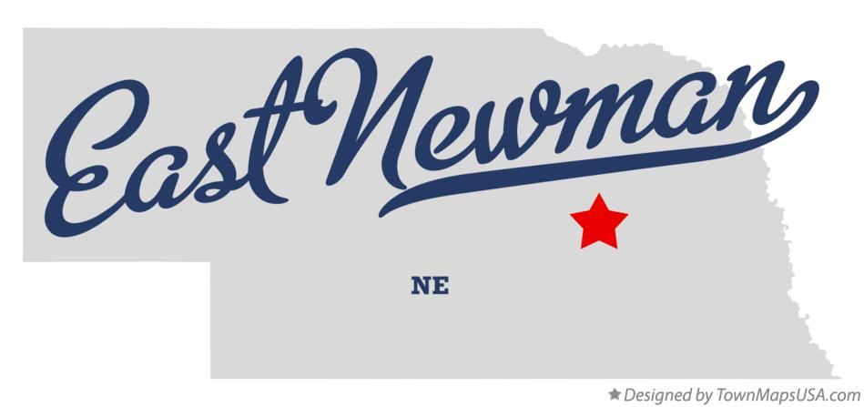 Map of East Newman Nebraska NE