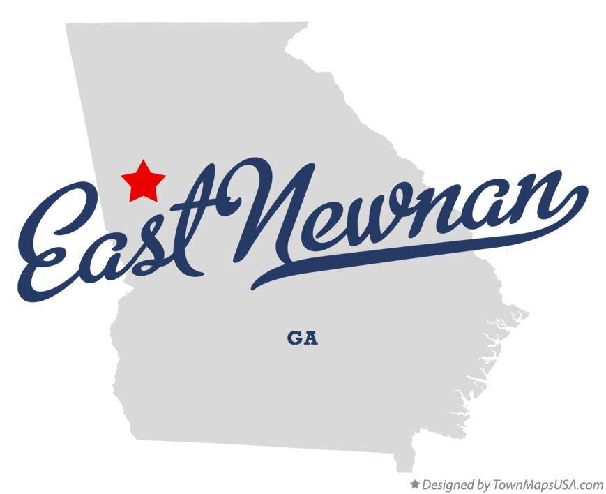 Map of East Newnan Georgia GA