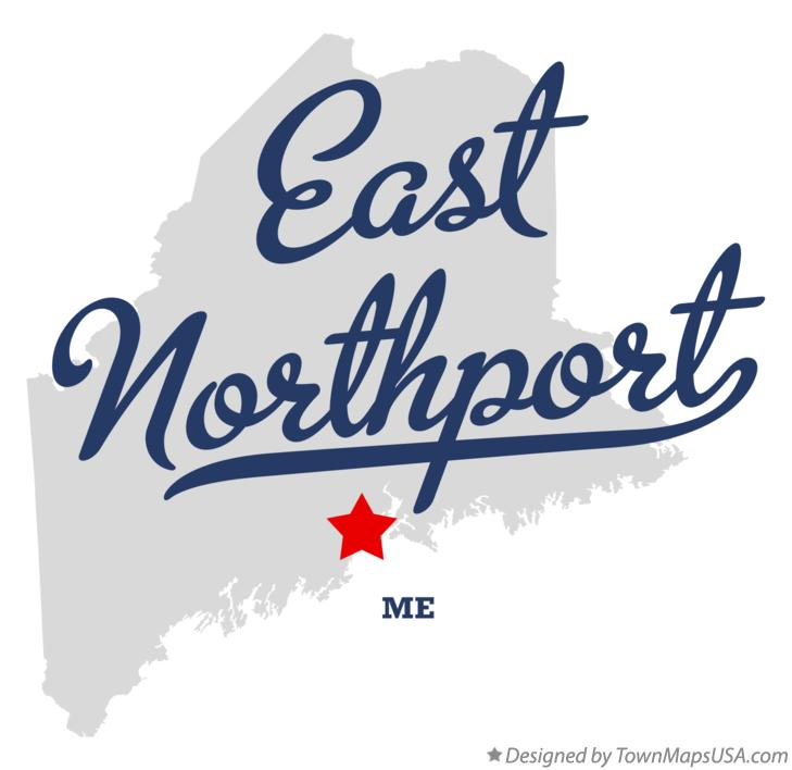 Map of East Northport Maine ME