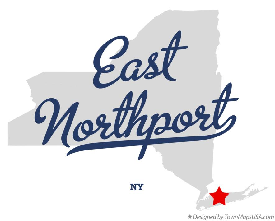 Map of East Northport New York NY