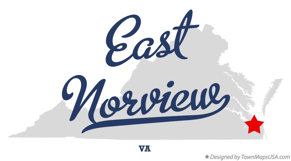 Map of East Norview Virginia VA