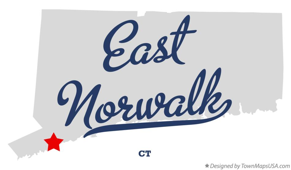 Map of East Norwalk Connecticut CT