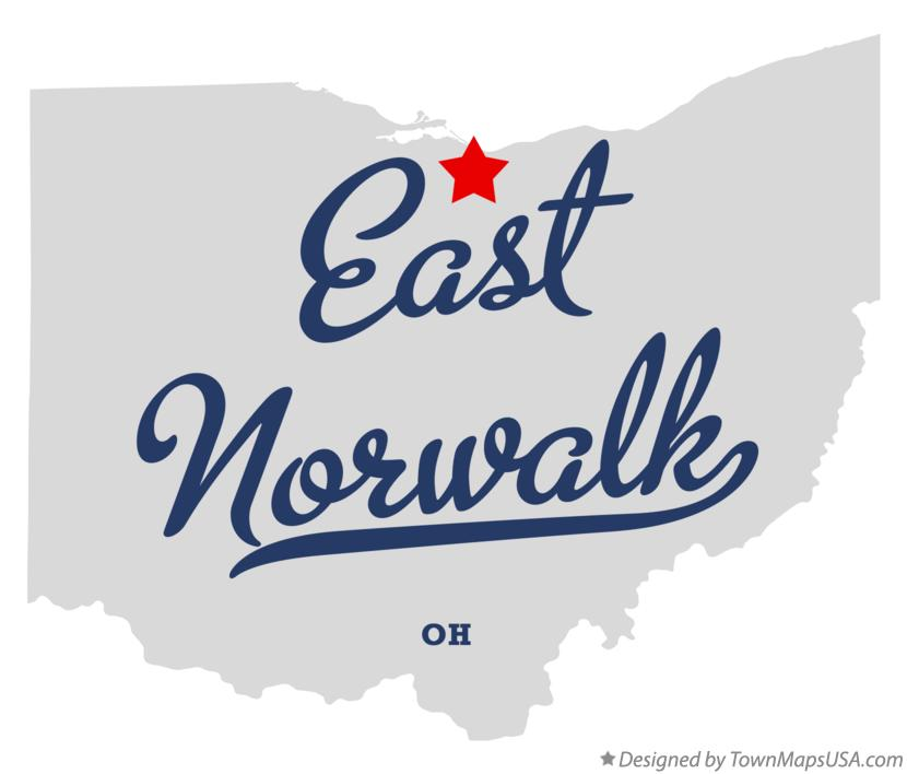 Map of East Norwalk Ohio OH