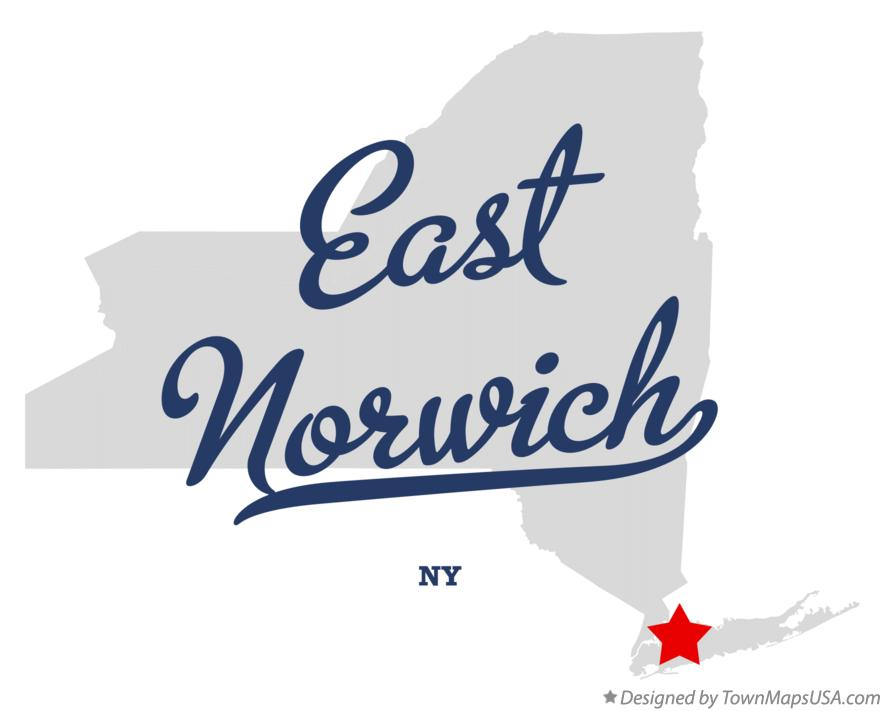 Map of East Norwich New York NY