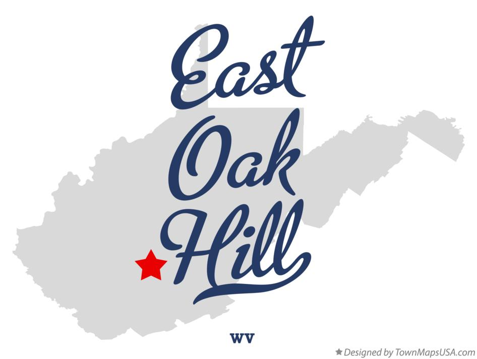 Map of East Oak Hill West Virginia WV
