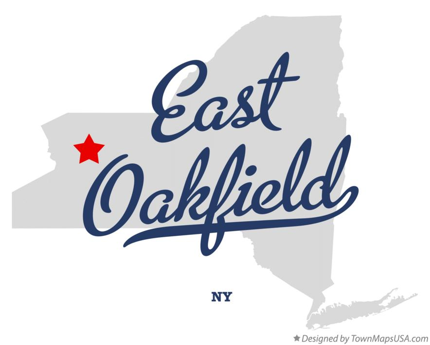 Map of East Oakfield New York NY
