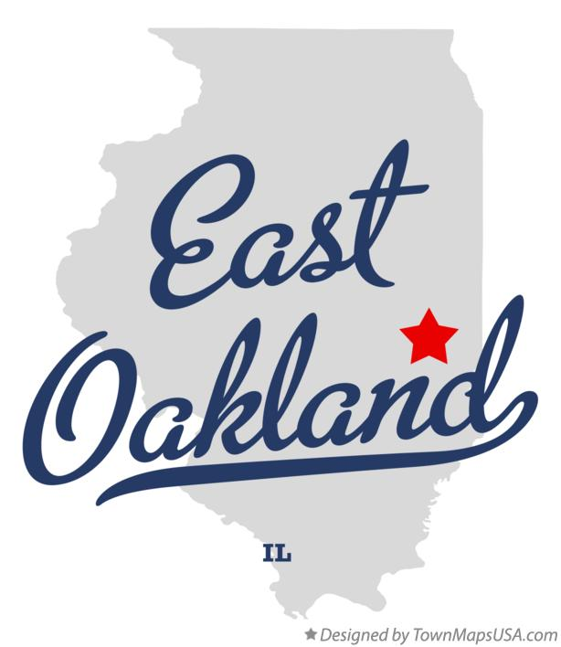 Map of East Oakland Illinois IL