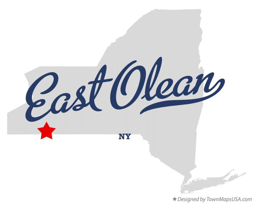 Map of East Olean New York NY