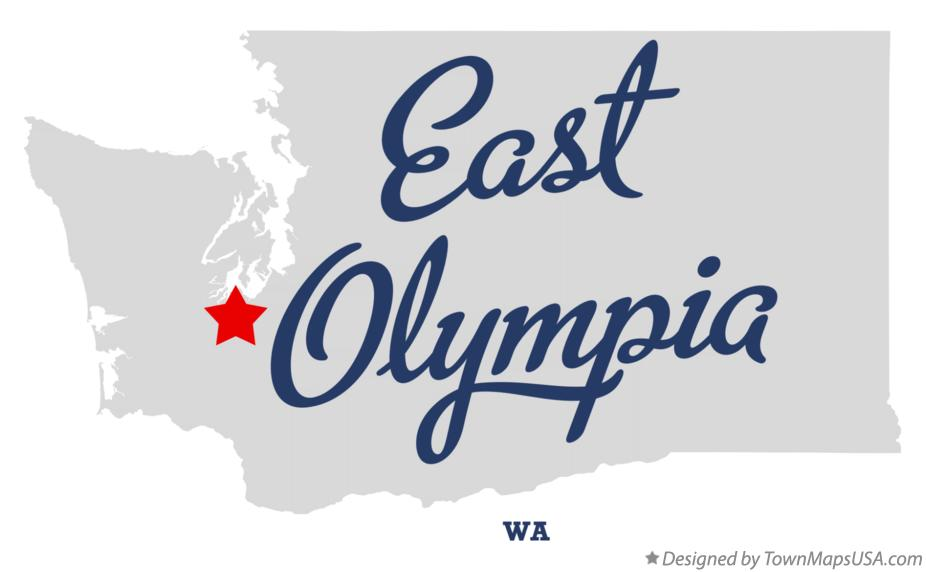 Map of East Olympia, WA, Washington