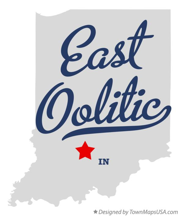 Map of East Oolitic Indiana IN