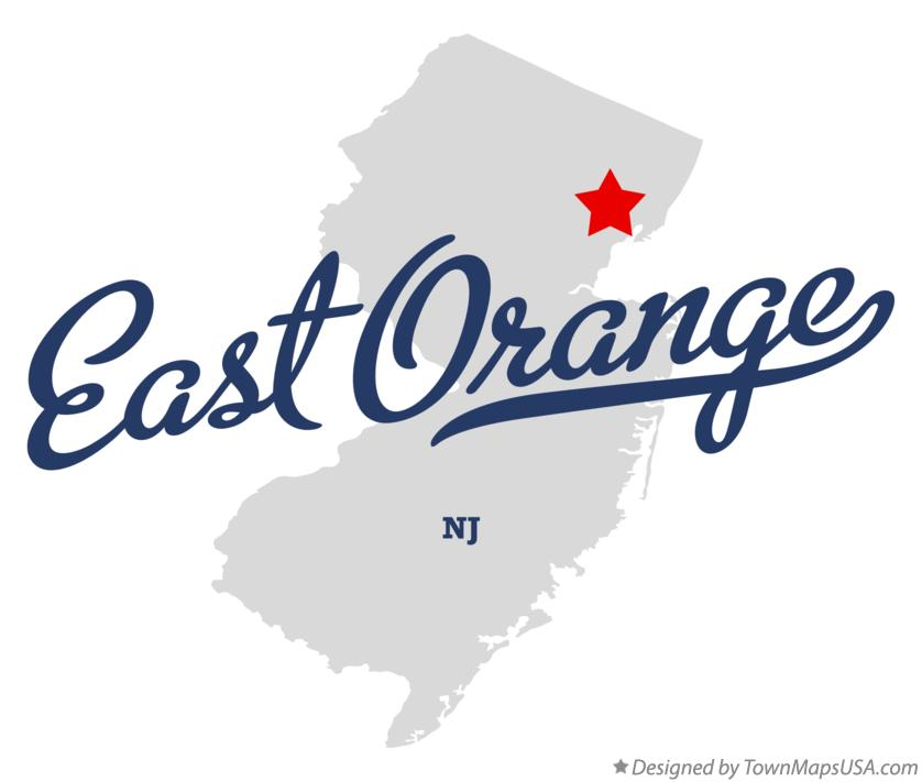 Map of East Orange New Jersey NJ