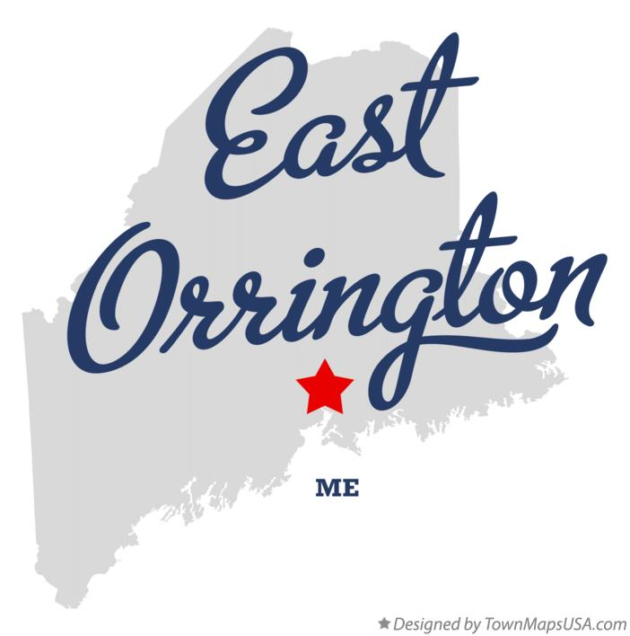 Map of East Orrington Maine ME
