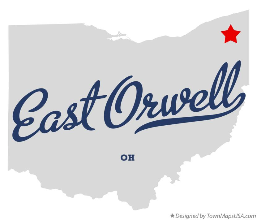 Map of East Orwell Ohio OH