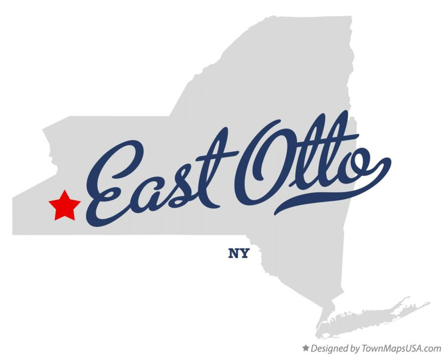 Map of East Otto New York NY