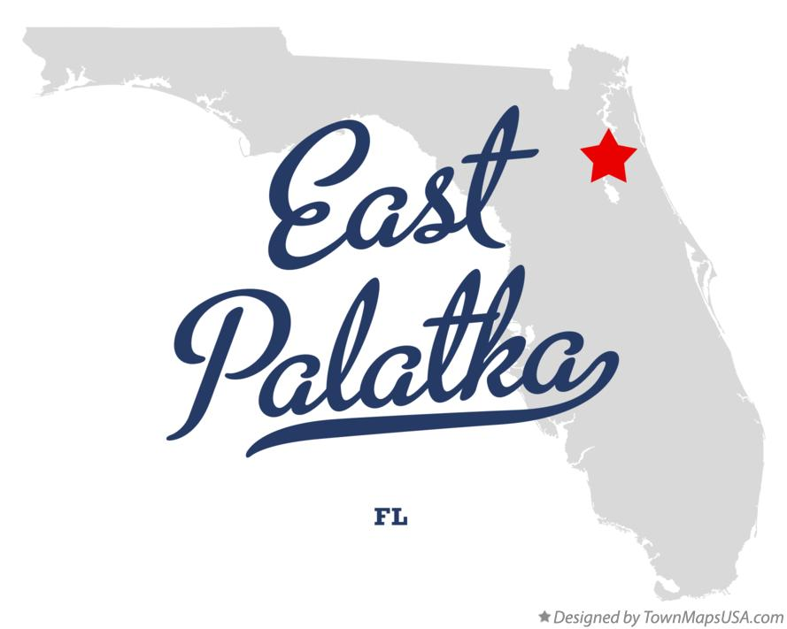 Palatka Florida Map.Map Of East Palatka Fl Florida
