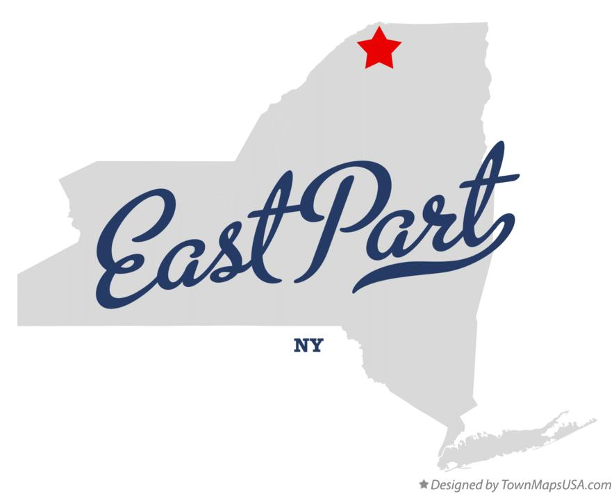 Map of East Part New York NY