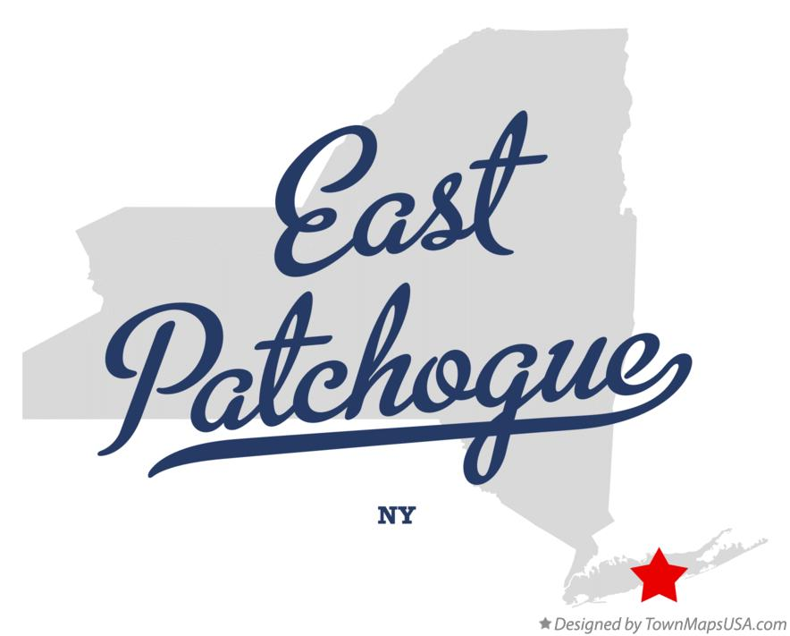 Map of East Patchogue New York NY