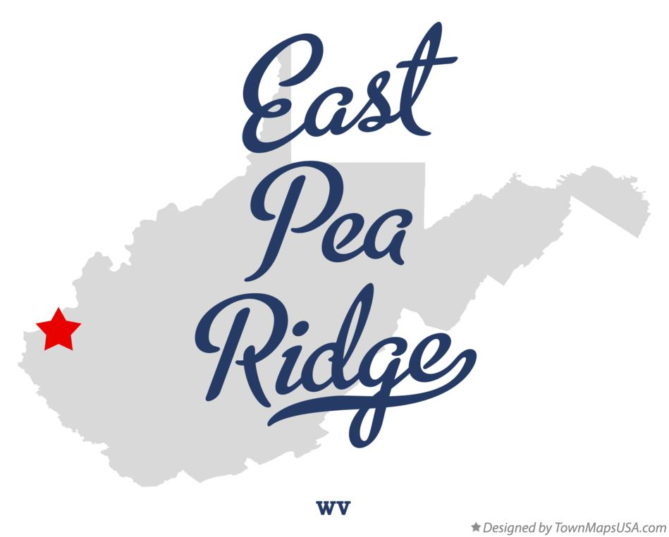 Map of East Pea Ridge West Virginia WV