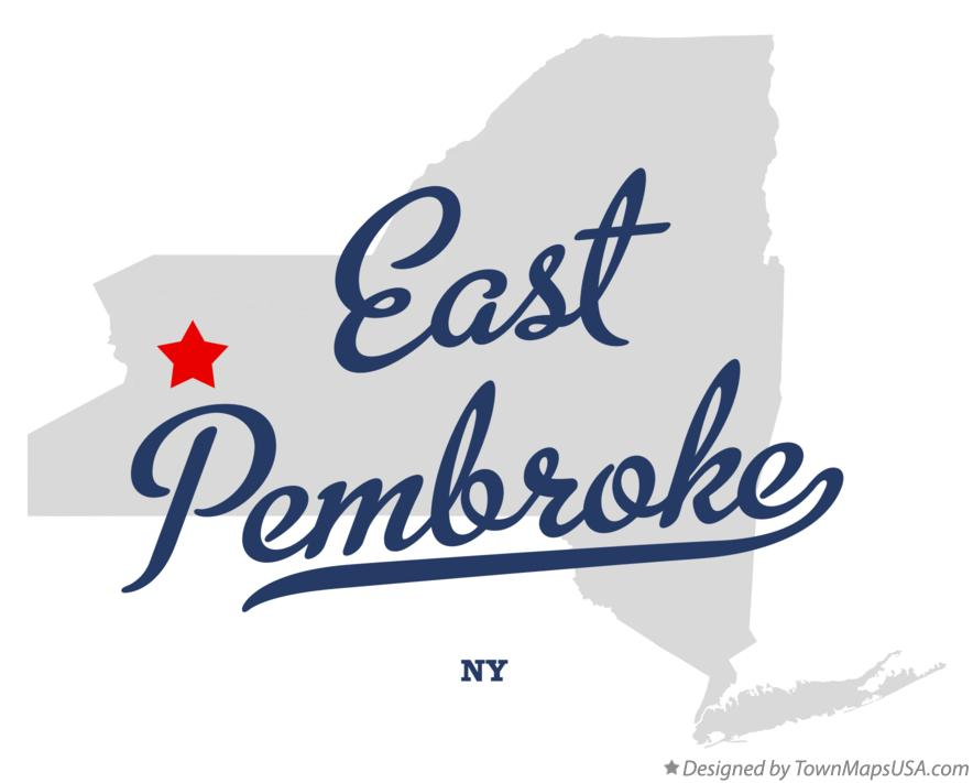 Map of East Pembroke New York NY
