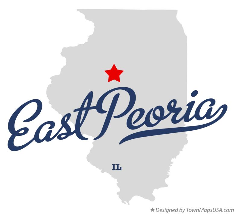 Map of East Peoria Illinois IL