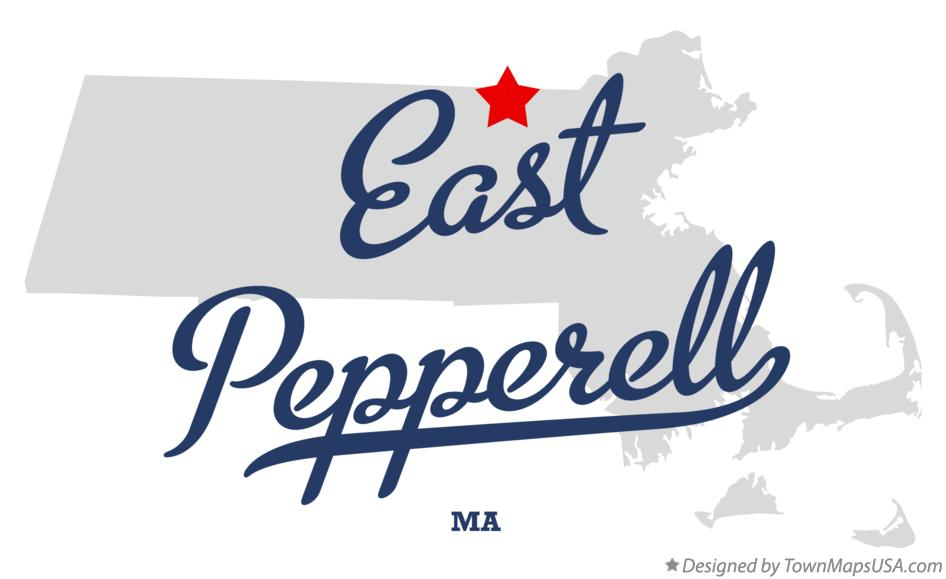 Map of East Pepperell Massachusetts MA