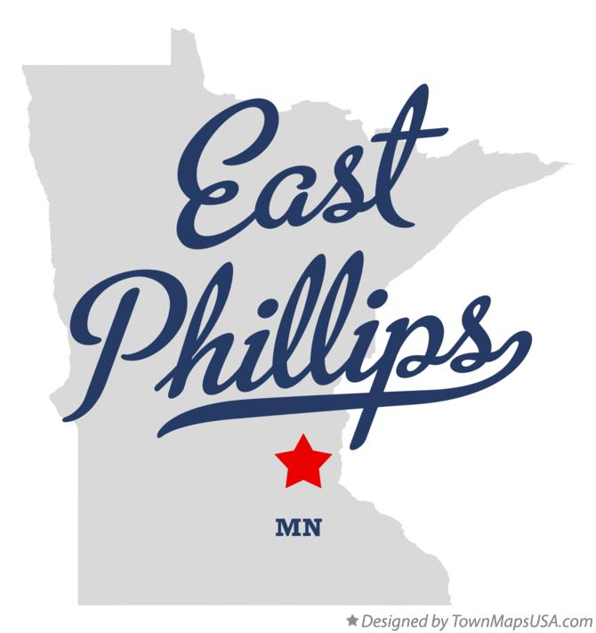 Map of East Phillips Minnesota MN
