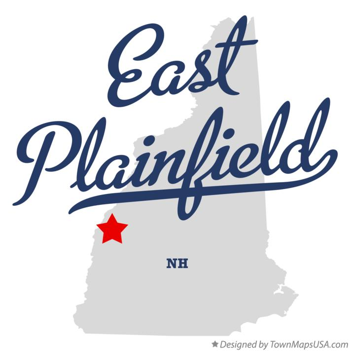 Map of East Plainfield New Hampshire NH