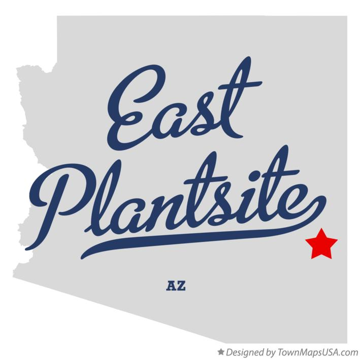 Map of East Plantsite Arizona AZ